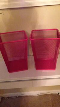 two pink metal bins Charlotte, 28206