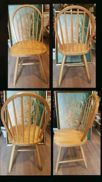 """4 JY Bow Back Chairs 17.5""""W×17.5""""H×36""""H Back Queens, 11106"""