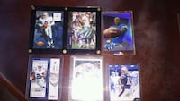 six assorted football trading cards Odessa, 79765