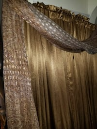 4 Beautiful drapes in a gold, a drape accent scarf Parkville, 21234