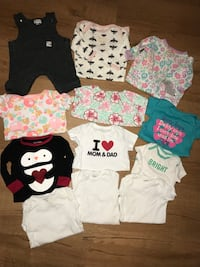12pc 0-3m Baby Girl Infant Clothes Lot Fall River, 02720