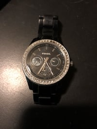 Men's fossil watch few scratches on band missing 2 tiny gems first $20 takes it Edmonton, T5B 0E4
