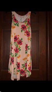 white, green, and pink floral long sleeve dress Winfield, 25213