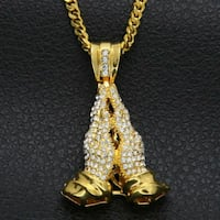 18k Gold Plated ICED OUT Miami Men Women Necklace London, N6P 0E2