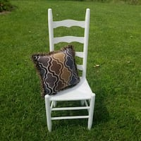 white and brown wooden armchair Granger, 46530