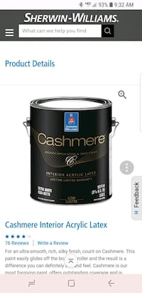 NEW 2 Sherwin Williams Cashmere Low Lusture Centreville, 20120