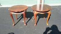 Pair of Round Cherry End Tables with Queen Anne Legs  Virginia Beach, 23455