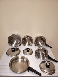 """3-PLY, 18/8 STAINLESS, """"Flavor Seal"""" 8-PIECE Cookware by COREY - firm$"""