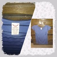 blue and white scoop neck long sleeve shirt Grand Junction, 81504