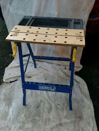 Budget garage work bench  brand new... tool slots and vice