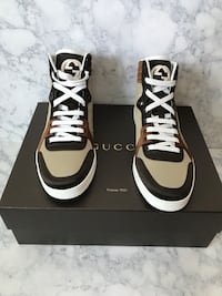 NEW  AUTHENTIC GUCCI high-top sneaker size men 7.5  women 9.5   Lyndhurst, 07071