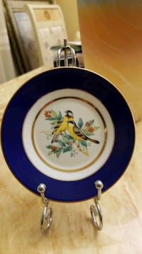 Plate gold and blue from japan Toronto, M2M 1N7