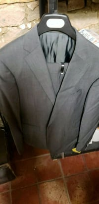 gray notched lapel suit jacket Toronto, M9C 4V9