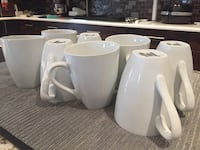 Never used large white mugs Calgary, T3H 5E8