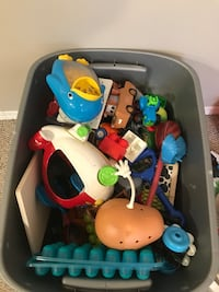 Tote box of toys - moving make an offer!
