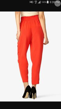 Blood Orange Satin Long Genie Pants