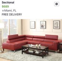 Sectional nuevo (delivery free) Miami, 33155