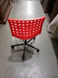 Red ikea rolling chair