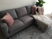 sectional interchangeable grey sofa Toronto, M8W 1N6