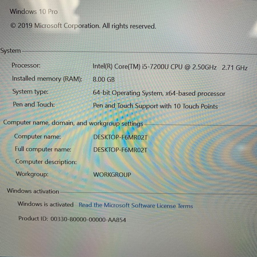 """Microsoft Surface Laptop 13.5"""" Windows 10 Notebook PC See Photos For Specs  a1b34396-cd50-4355-83a7-b40277fa7830"""