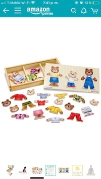 melissa and doug bear family dress up puzzle Washington, 20010