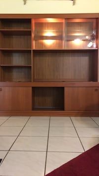 brown wooden TV hutch with cabinet Oxon Hill, 20745