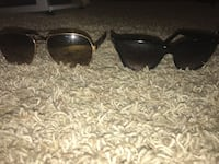 Two black aviator sunglasses with stainless steel frames Cleveland, 37312