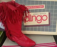 Ruby Red leather Dingo Boots with Fringe Pensacola, 32534