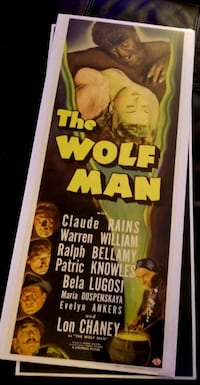 Brand new The Wolf Man Poster  Bunker Hill, 25413