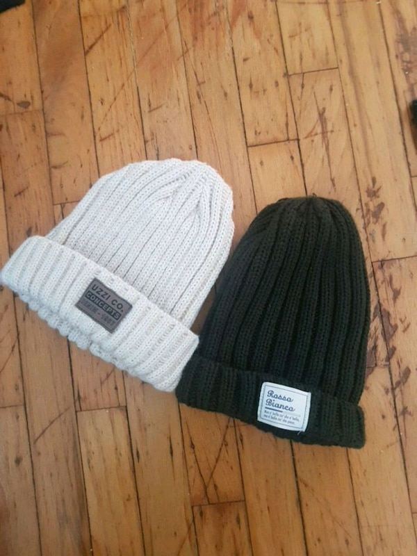 NEW White/cream and army green Beanies