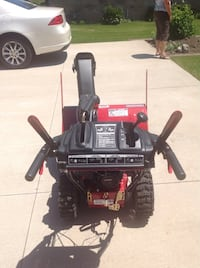 """Craftsman 28"""" electric snow thrower, model 247.88394. Used once, asking $875 OBO Call  [PHONE NUMBER HIDDEN]  Butler, 53007"""