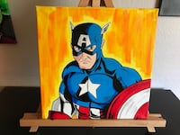 Captain American canvas painting