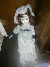 girl doll in white and blue dress West Warwick, 02893