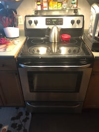 Stainless steel induction range oven