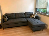 Brand New Grey Linen Sectional Sofa Couch  Silver Spring, 20902