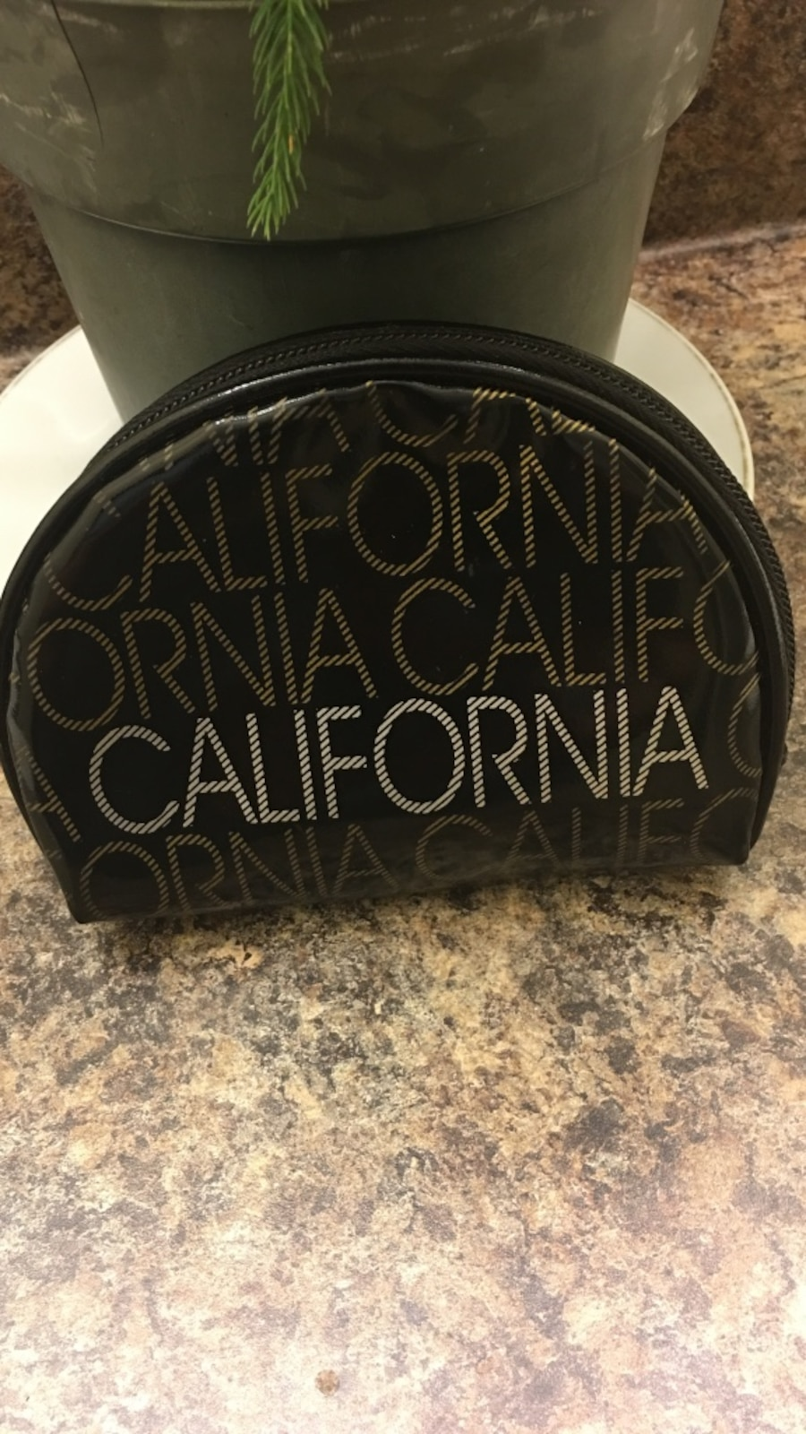 black patent leather California pouch