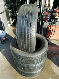 Set of used 225-60-17 tires Fullerton, 92833