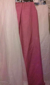 Curtains 2panels white 1 rose Bakersfield, 93307