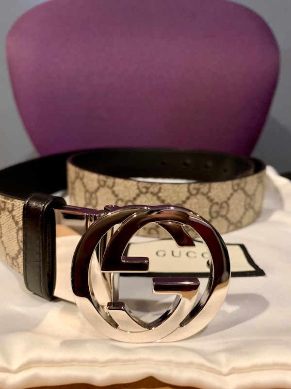 5b5975a17 Used Gucci GG Supreme/Black Leather Belt (Reversible-Size 38 Waist/95cm)  for sale in Uniondale - letgo