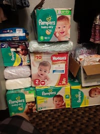 Pampers of different sizes