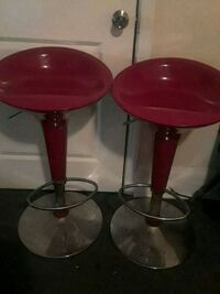 two red and crome bar stools New Bedford, 02740