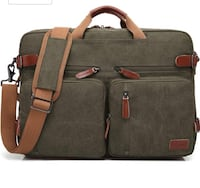 Brand new- Convertible Backpack Messenger Shoulder Bag-Canvas Green Nashville, 37211