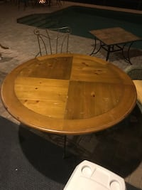 Dining room table and chairs  Wood and cast iron Valrico, 33596