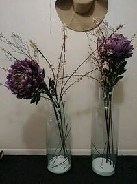 Glass vase and realistic flowers 223 mi