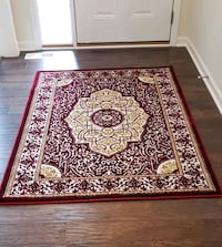 Red and gold color new,Kashmir 4'by6' area rug
