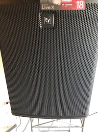 18 EV Live X subwoofer will trade for 2 folded horn cabinets