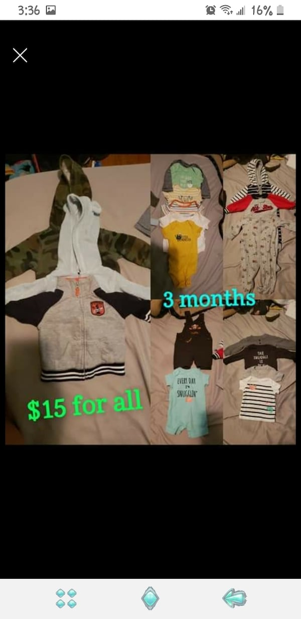 Baby boy clothes (0-3 & 3 month) 0
