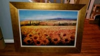 Sunflower painting in frame large Annandale, 22003