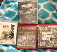 three assorted PS3 game cases Barrie, L4N 5G8