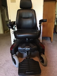 Black and Red SunFire Plus mobility chair STOCKTON